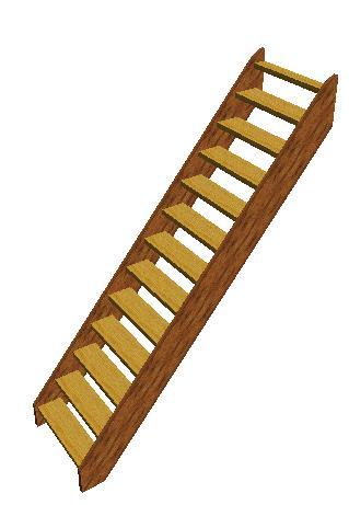 houten steek trap